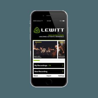 Lewitt Recording App Screen