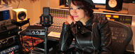 Rie Tsuji with her LCT 940 reference condenser FET studio microphone